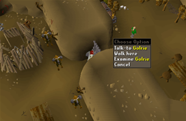 Zybez RuneScape Help's Screenshot of Golrie
