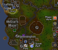 Zybez RuneScape Help's Image of a map of Rimmington