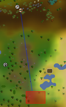 Zybez RuneScape Help's Image of the Crimson Swift Hunting Area