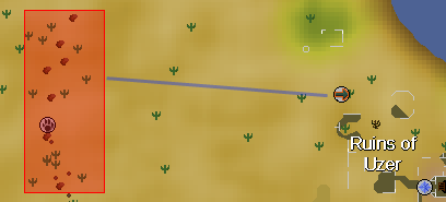 Zybez RuneScape Help's Image of the Golden Warblar Hunting Area