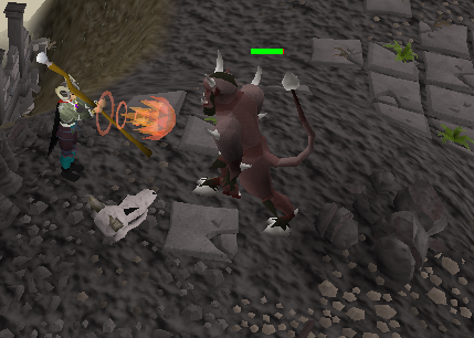 Zybez RuneScape Help's Screenshot of Magically attacking a Lesser Demon