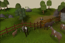 Zybez RuneScape Help's Screenshot of Crafting Guild Cows