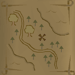 Zybez RuneScape Help's Screenshot of a Treasure Trail Map